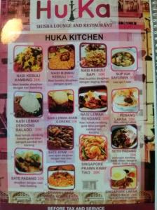 indian n melayu menu