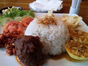 nasi lemak rendang (30k)
