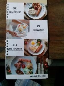 menu urban steak