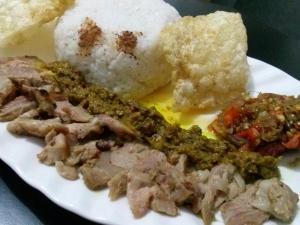 nasi babi guling panggang (35k) tanpa nasi (30k)